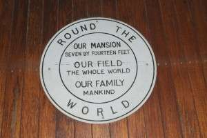Plaque on an old truck which was driven around most of Africa in the early 20th century.